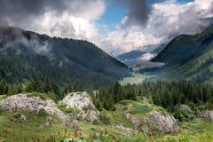 Alps Frankrike (långt till Kolonn du Bonhomme) Arkivfoto
