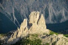 Alps gór dolomity Cinque Torri zdjęcie royalty free