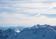 alps gór śnieg pod zima Fotografia Stock