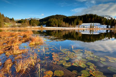 Alps and Geroldsee lake in autumn Royalty Free Stock Image
