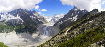 Alps Glacier Panoramic Royalty Free Stock Images