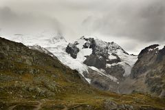 Alps and Glaciers in Switzerland Stock Photo