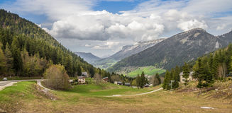 Alps glen. In france. Chartreuse Mountains Royalty Free Stock Photography