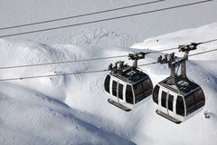 Alps gondola Royalty Free Stock Photography