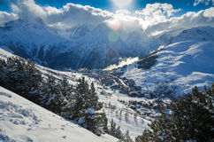 Alps i Frankrike fotografering för bildbyråer