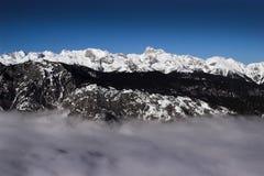 Alps i Slovenien Arkivbilder