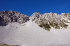 The Alps in Innsbruck. Peaks and valleys in the Alps mountain royalty free stock photography