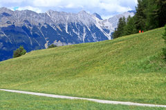 Alps in Innsbruck,Austria. Landscapes in Innsbruck in Austria royalty free stock photography
