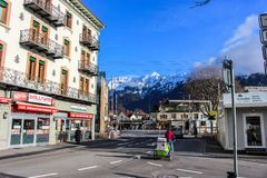 Alps Interlaken, Szwajcaria - Fotografia Royalty Free