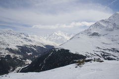 alps italien vinter Arkivfoto
