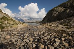 Alps kształtują teren blisko LeBlanc Obrazy Royalty Free