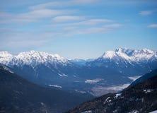Alps kształtują teren halną naturę Fotografia Stock