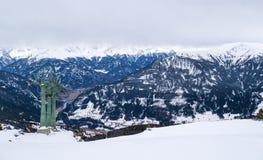 Alps kształtują teren halną zimę Obraz Stock