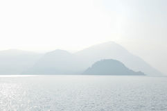 Alps and Lake Como Royalty Free Stock Photo