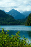 Alps Lake and mountains Royalty Free Stock Photos