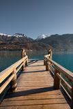 Alps Lake Pier Vertical Royalty Free Stock Images