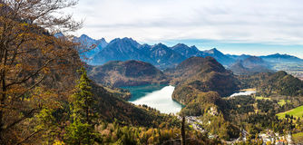 Alps and lakes in Germany Royalty Free Stock Photo