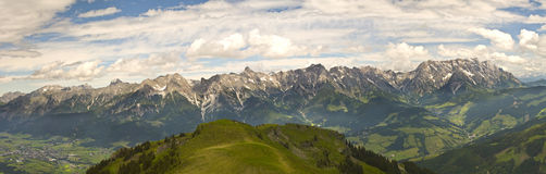 Alps landscape. Landscape of alps mountain at cloudy day Royalty Free Stock Images