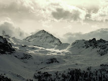 Alps landscape. View of the alps (Valais, Switzerland Royalty Free Stock Images