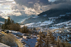 Alps landscape. Magic view in Alps, France royalty free stock photos