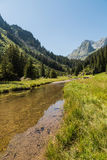 Zen moment in Alps Royalty Free Stock Images