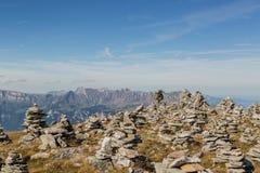 Zen moment in Alps Stock Photography