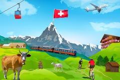 Alps Matterhorn card Royalty Free Stock Images