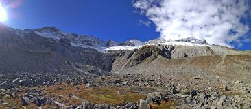 Mountain panorama. Alps in middle Switzerland at the morning Royalty Free Stock Image