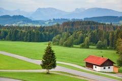 Alps morning landscape Royalty Free Stock Photo