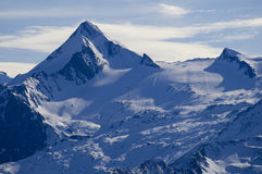 Alps mountain in austria in winter Royalty Free Stock Images