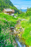 Alps mountain chalet in Italy Stock Images