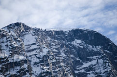 Alps mountain with cloudy background Stock Photography