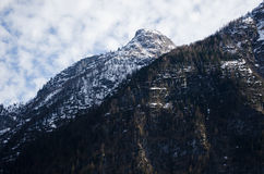 Alps mountain with cloudy background Royalty Free Stock Images