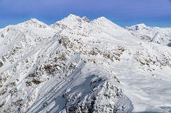 Alps mountain covered with snow in winter, italy Stock Photo