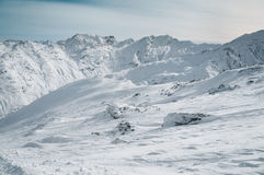 Alps mountain covered with snow in winter, italy Royalty Free Stock Photography