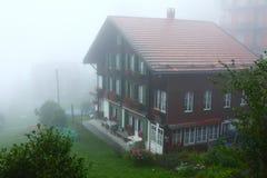 Alps mountain town Wengen Stock Image