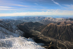 Alps Mountain Range with Glacier Royalty Free Stock Photography