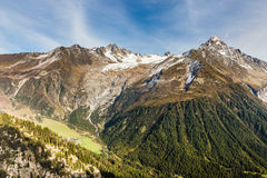 Alps Mountain Range During Summer Day - France Stock Photography