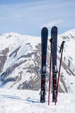 Alps. Mountain skiing at top of the Italian Alps. Royalty Free Stock Image