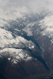 The Alps - mountain view from an airplane Stock Photography