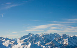 Alps mountain winter landscape Royalty Free Stock Photo