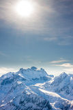 Alps mountain winter landscape Stock Photos