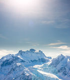 Alps mountain winter landscape Royalty Free Stock Photos