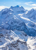 Alps mountain winter landscape Stock Images