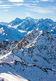 Alps mountain winter landscape Royalty Free Stock Images