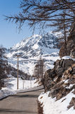 Alps mountain in winter Royalty Free Stock Image