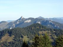 Alps mountains. View from Hochries Royalty Free Stock Image