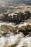 Alps Mountains aerial view royalty free stock photography