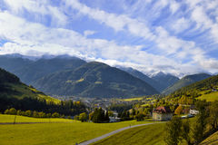 Alps Mountains and Forest Royalty Free Stock Images