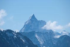 The Alps Mountains - Between Ice and Snow Royalty Free Stock Images